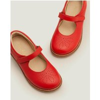 Leather Mary Janes Red Girls Boden, Red