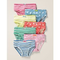 7 Pack Pants Blue Girls Boden, Red