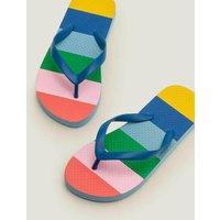 Printed Flip Flops Multi Girls Boden, Multicouloured