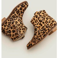 Leather Western Boots Brown Girls Boden, Leopard