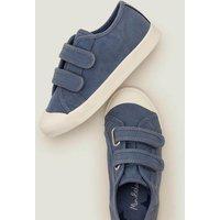 Double Strap Canvas Shoes Blue Boys Boden, Blue