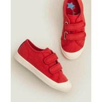 Double Strap Canvas Shoes Cherry Tomato Red Boys Boden, Cherry Tomato Red