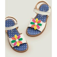Leather Padded Sandals White Girls Boden, White