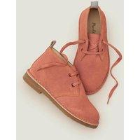 Lace Up Desert Boots Vintage Pink Girls Boden, Vintage Pink