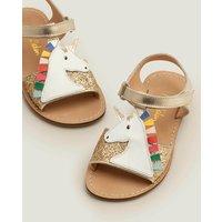 Unicorn Sandals Gold Girls Boden, Gold