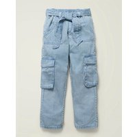 Cargo Trousers Blue Girls Boden, Blue