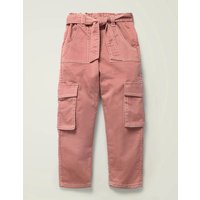 Cargo Trousers Pink Girls Boden, Pink