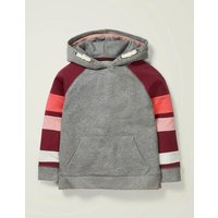 Johnnie B Colourblock Hoodie Grey Girls Boden, Grey