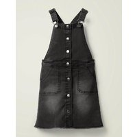 Button Through Dungaree Dress Black Girls Boden, Black