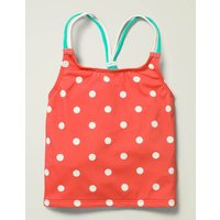Patterned Tankini Top Red Girls Boden, Ivory