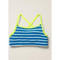 Patterned Bikini Top Navy Boden, Blue