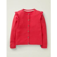 Everyday Cardigan Pink Girls Boden, Red