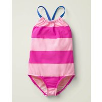 Printed Low-back Swimsuit Pink Girls Boden, Pink