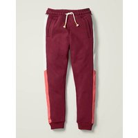 Johnnie B Cosy Colourblock Joggers Red Girls Boden, Red