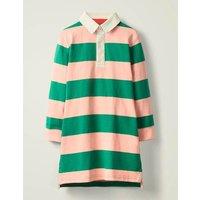 Johnnie B Jersey Shirt Dress Green Girls Boden, Green