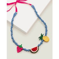 Fabric Necklace Multi Girls Boden, Multicouloured
