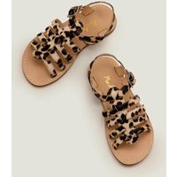 Leather Gladiator Sandals Brown Girls Boden, Leopard
