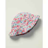 Woven Summer Hat Pink Girls Boden, Multicouloured