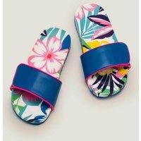 Pool Slides Multi Tropical Bloom Girls Boden, Multi Tropical Bloom