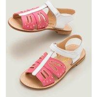 Fun Leather Sandals Multi Girls Boden, Camel