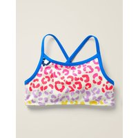 Patterned Bikini Top Multi Girls Boden, Leopard