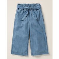 Tie-waist Culotte Blue Girls Boden, Blue