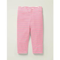 Fun Cropped Leggings Bright Camelia Pink/ White Boden, Bright Camelia Pink/ White.