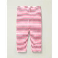 Fun Cropped Leggings Bright Camelia Pink/ White Boden, Bright Camelia Pink/ White