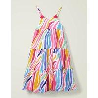 Johnnie B Tiered Tassel Dress Multi Girls Boden, Multicouloured
