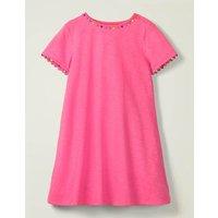 Mini Me Charlie Jersey Dress Pink Girls Boden, Camel