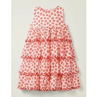 Tiered Embroidered Dress White Girls Boden, White