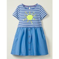 Sequin Colour Change Dress Blue Girls Boden, Blue