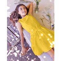 Strawberry Broderie Dress Yellow Girls Boden, yellow