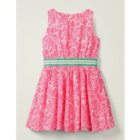 Waistband Woven Dress Pink Girls Boden, Pink