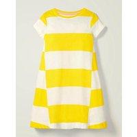 Stripe Jersey Dress Yellow Girls Boden, yellow