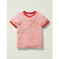 Towelling T-shirt Red Girls Boden, Red