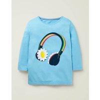 Music Flutter T-shirt Blue Girls Boden, Blue