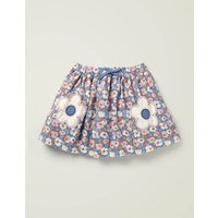 Novelty Pocket Woven Skirt Blue Girls Boden, Blue