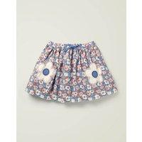 Novelty Pocket Woven Skirt Blue Girls Boden, Blue