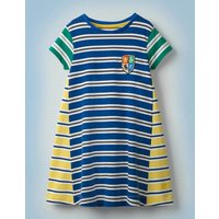 House Breton Dress Red Girls Boden, Blue