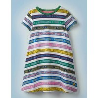 Charms Class Jersey Dress Multi Girls Boden, Blue