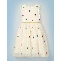 Bertie Bott's Beans Dress Ivory Girls Boden, Multicouloured