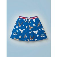 Owl Post Jersey Skort Blue Girls Boden, Blue