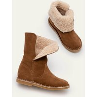 Cosy Suede Boots Tan Brown Boden, Tan Brown