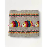 Cosy Hedgehog Snood Grey Christmas Boden, Grey