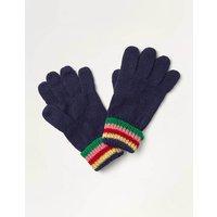 Sparkle Gloves Blue Girls Boden, Navy