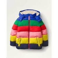 Cosy Padded Jacket Multi Rainbow Boden, Multi Rainbow