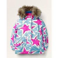 All-weather Waterproof Jacket Blue Christmas Boden, Blue