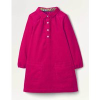 Collared Woven Dress Pink Girls Boden, Pink
