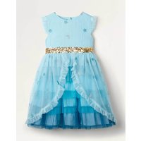 Tiered Tulle Party Dress Blue Girls Boden, Blue